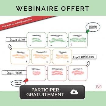 Invitation au Webinaire Destination Business Bonheur - 3 étapes pour créer son entreprise épanouissante